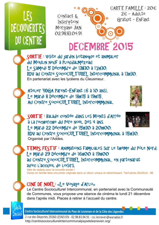 decouvertes du centre 2015 dec 2015