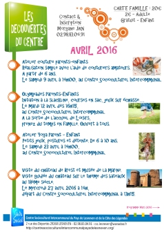 decouvertes du centre avril 2016