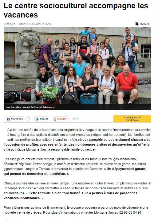 Ouest france ACF ete 2016